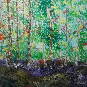 PRICE OFFER Colorful in the forest 120X120 CM.