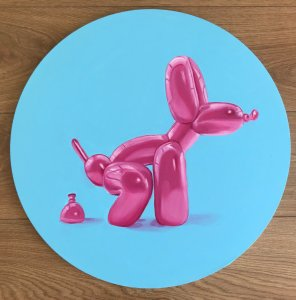 """Pink Dog Poop"" Type Jeff Koons (It can be made to order and with custom colors)"