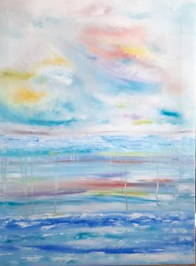"""""""Reflejos en el mar"""", 80x60, 180 euros"""