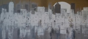Moon City 100 x 50 cm