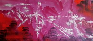 THE LOST CITY ... Abstract 100x50 cm
