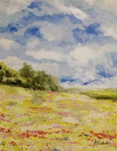 Brightness in the meadow