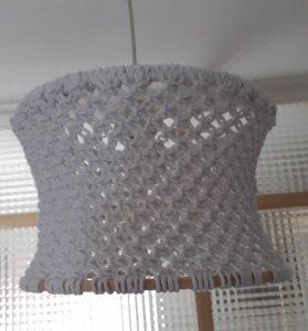Pendant lamp / lampshade made in macrame