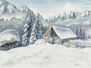 Snowy Hermitage