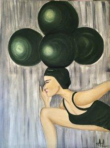 """""""Aguantando el equilibrio """" 80 x60 cm"""