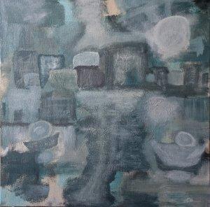 The Blue Village 60 x 60 cm