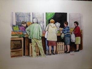 """"""" The fruit shop""""."""
