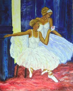 Bailarinas en la Bayader.