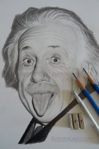 Albert Einstein @Retratolapiz