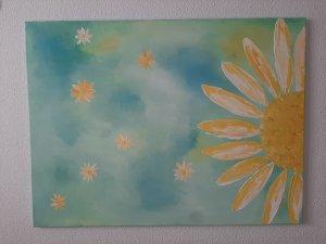 Cielo con Margaritas,  80x60cm,