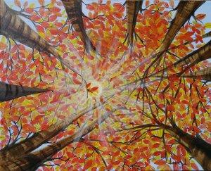 Rayos de sol en otoño