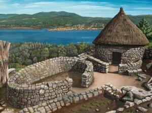 Castro de Santa Tegra (A Guarda). Oil on canvas 40x30 cm