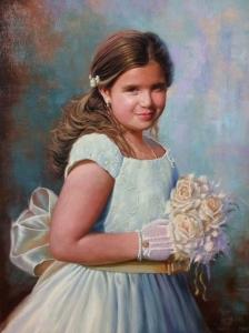COMMUNION PORTRAIT OF GIRL