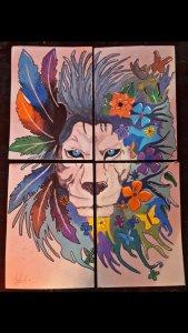 Lion in four parts