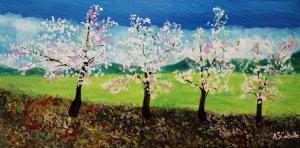 New almond blossom