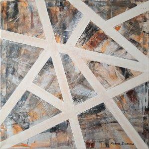 """ Abstracción geométrica "" , 50x50 cm, 90 euros"