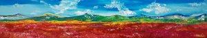Panorama. Reddish landscape