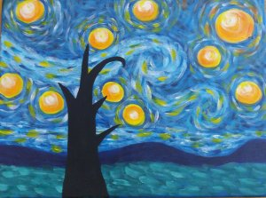 The Starry Night - Van Gogh - Reproduction