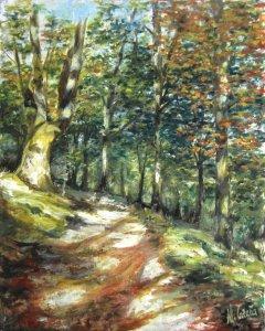 Parque Natural del Señorío de Bertiz. Pinturas al óleo
