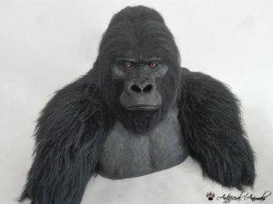 Busto de gorila de montaña sintético