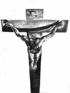 Christ of San Juan de la Cruz (Tribute to Dalí)