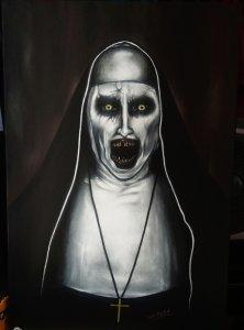 Cuadro de la Monja pintado a mano