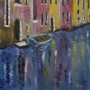 Barca en Venecia.
