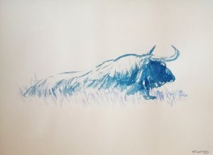 Lying bull
