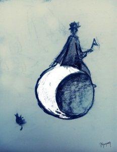 Climbed to the moon