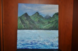 """11 Landscape: Sea and Mountains 9.72"""" x 8.77"""""""