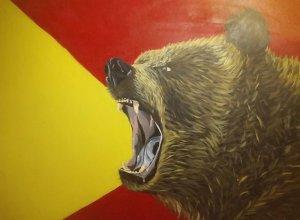 The grunt of a bear