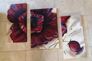poppy triptych box