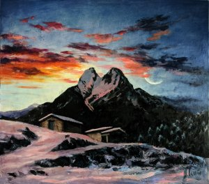 Pedraforca Mountain landscape