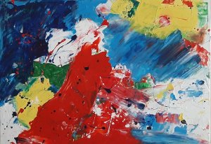 """"""" COLORS AND EMOTIONS 03"""" ,70x50 cm,  120 euros"""