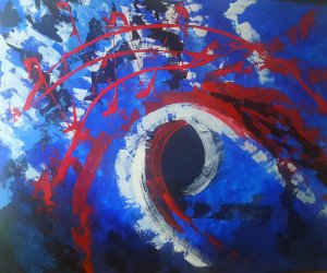 Symphony of colors ... FREE SHIPPING ... Painting 100x80 cm