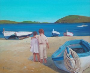 """Girls walking through Port Lligat - Cadaqués"""