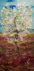 Almond tree in the spring