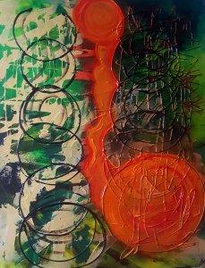 Rodando por la vida..10% DESCUENTO.Pintura original 100x80 cm