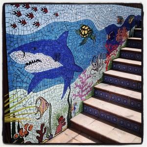 mosaico directamente en la  pared