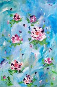 """""""Romantic roses 01"""", 60x40cm, 110 euros"""