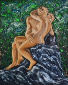 Rodin's kiss.