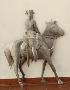 Escultura Guardia civil a caballo