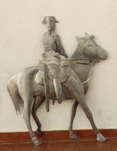 Sculpture Civil Guard on horseback