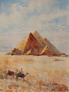Giza pyramids 36x48 2009.JPG