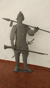 Sculpture Soldier with musket