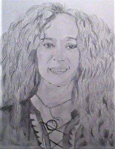 Retrato de la cantante Rosario Flores