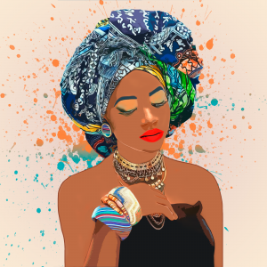 African woman illustration