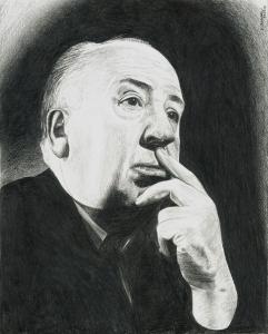 Alfred Hitchcock. Retrato a lapicero