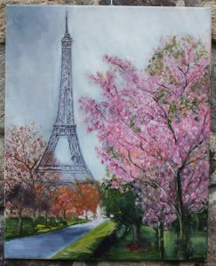 Paris floreciendo