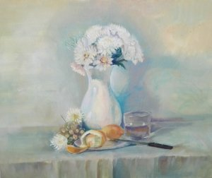 STILL LIFE OF VASE WITH FLOWERS